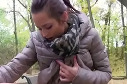 Public Pickups - Down in the mouth Amateur Legal age teenager Fucks For MOney In Open Street 14