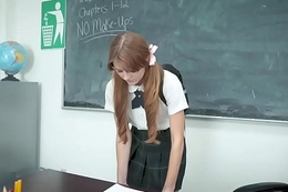 InnocentHigh - Shy Redhead Screwed By Teacher