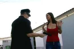 Sexy spanish pet Sandra milka screwed in jail