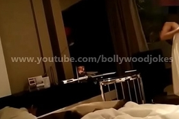Newly wed Indian Wife desi dare in motel enf Towel drop teasing room service boy