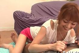 Oriental around to white female porn