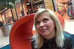 Fantastic czech nympho gets seduced in the shopping centre and poked in pov