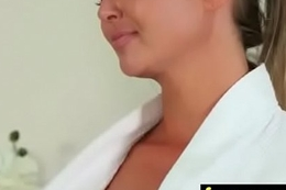 Gorgeous masseuse explores the making of a sexy lesbian beauty 3