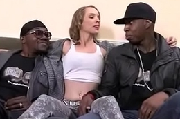 White girl convinced to go for cum from black cock 27