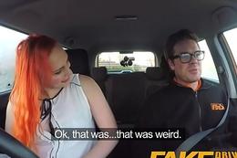 Fake Impelling Omnibus Tattooed redhead craves instructors big cock and cum