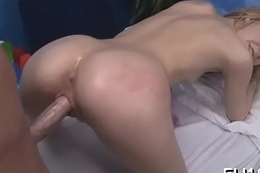 Babe is team-fucked in doggie