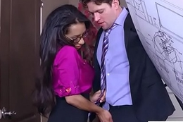 Sex In Office With Big Give Tits Girl (Priya Price) video-26