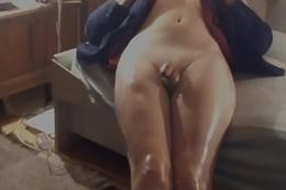 Crossdresser Morose Toes On Web camera