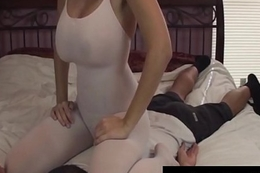 Brunette Notability Charlee Run after Makes Hubby Cum wide of Face Sitting!