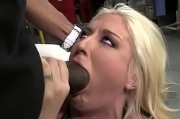 White Inclusive Spit Roasted Wide of Obese Black Cock 10