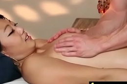 Gorgeous Wasting away gets a massage 17