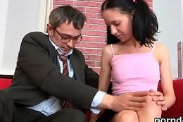 Elegant bookworm was seduced added to shoved by her grey teacher