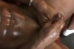 Well-pleased Interracial handjobs coupled with dismal dick suck video 33