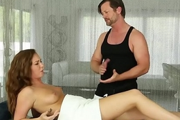 Amateur looker fucked on make an issue of massage feed