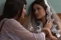 Busty lesbian latin bride