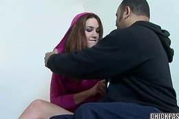 Horny teen Steph is getting nailed nearly a big black cock