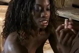 Ebony Sucking Pallid Dick
