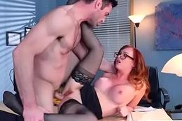 Mr Big Hot Girl (Dani Jensen) Banged Hardcore Close by Office mov-09
