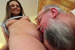 Nasty old man bonks Liza Shay