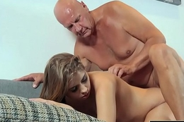 Pretty Young Tolerant Mouthful Of Cum And Anal Sex With Grandpa Cock