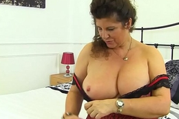 English milf Gilly pushes her knickers into her untrue