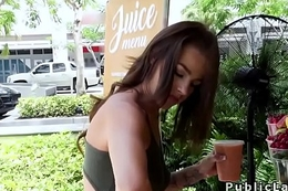 Autochthon American hottie bangs in public