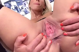 Unusual czech nympho stretches her wideness pussy in the bizarre