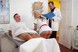 Brazzers - Doctor Adventures - Cum For Nurse Sarah scene starring Sarah Vandella and Keiran Lee