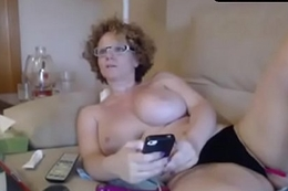 2 ps mature big knockers busty cam with red-hot hair