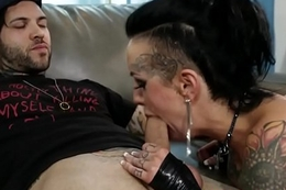 Tattooed fetish slut suck