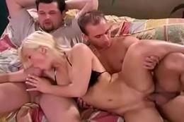 Slutty Blonde Threesome From Romania