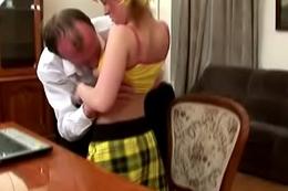 Tricky Venerable Teacher - Teacher bonks schoolgirl after lessons at his place