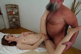 Granddad fucks their way younger massage buyer