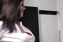 He seduces chesty chick into sex