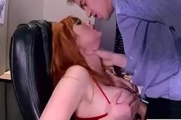 (Lauren Phillips) Office Sluty Gaffer Girl Love Intercorse clip-19