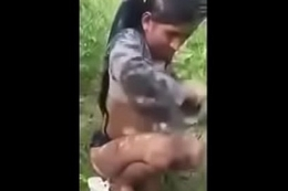 Indian Girl Mischievous time Sexual connection Condition outdoor