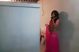 Crossdresser close to lehenga