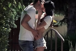 Assfucked teen makes love to her bf outdoors