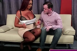 Effectively titted English redhead facially spunked