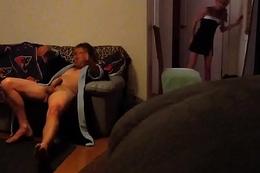 Caught masturbating