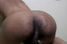 Hairy ass ladyboy takes shower and sucks my huge cock in POV