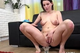 VIPissy - Brunette Victoria Daniels in watersports hardcore movie