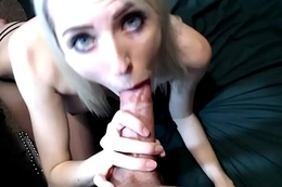 POV Blowjob Cum In Mouth